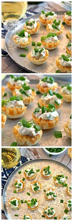 These Boursin & Prosciutto Phyllo Cups are the perfect bitesize appetizer! Perfect for wine night, the tailgate, or family holidays. ** replace with bacon! Bite Size Appetizers, Finger Food Appetizers, Yummy Appetizers, Appetizers For Party, Finger Foods, Appetizer Recipes, Phyllo Appetizers, Appetizer Ideas, Tapas