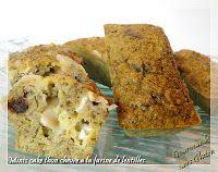 Petits cakes au thon chèvre (base farine de lentilles)