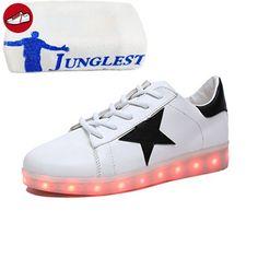 [Present:kleines Handtuch]Silber EU 25, Unisex Farbe JUNGLEST® schuhe Mädchen Schuhe Kinderschuhe Freizeitschuhe Aufladen weise Leuchtend und Junge Sport laufende Paare