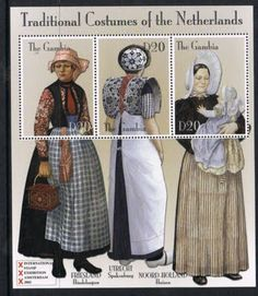 Traditional Dutch Costumes on Postage Stamps