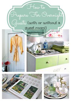 Are you ready for guests? This Love Your Space Challenge is a checklist with everything you need for your guests whether you have a designated guest room or not.