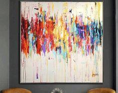 """48"""" pintura, pintura abstracta, acrílico, pintura, decoración de la pared, hangings de la pared de Jolina Anthony"""