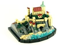 Cair Paravel Sketch Model LEGO microscale