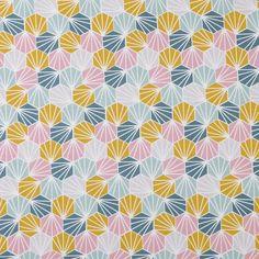 Tissu coton origami multicolore  - Mondial Tissus