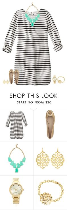 """"""""""" by secfashion13 ❤ liked on Polyvore featuring Tory Burch, Kendra Scott, Susan Shaw and Kate Spade"""