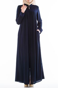 Butikzade - Orkide Ferace DF-1011-02-Lacivert The Dress, Dresses With Sleeves, Long Sleeve, Fashion, Moda, Gowns With Sleeves, Fashion Styles, Fasion, Dresses