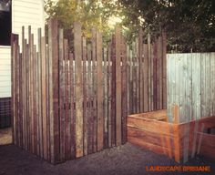 Landscape Brisbane timber garden slat screen