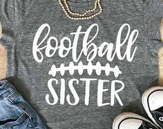 Welcome to Shorts and Lemons by ShortsandLemons on Etsy Football Sister, Football Mom Shirts, Cheer Shirts, Vinyl Shirts, Sports Shirts, Football Stuff, Football Sayings, Football Presents, Football Images