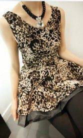 This dress has an in trend pattern and a shape that fits any figure