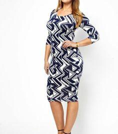NEW ASOS CURVE NAVY & WHITE GRAPHIC PRINT BODYCON DRESS RRP £28 | eBay