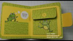 Geldbörse mit dem Stempelset Froschkönig Baby Scrapbook, Scrapbook Cards, Scrapbooking, Fancy Fold Cards, Folded Cards, Stampin Up Karten, Animal Cards, Tampons, Stamping Up