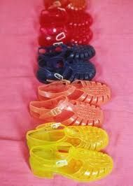 Jellies! (No support, sweaty feet and blisters - but so cool!!)