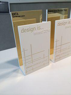 Laser cut plexi award - custom made trophies - design awards