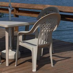 Resin Furniture, Resin Stacking Tropical Isle Chairs - American Sale