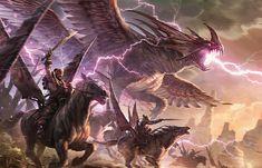 Boltwing Marauder (Raymond Swanland). Magic: The Gathering, Dragons of Tarkir.