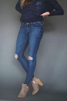688297c6650 Distressed Denim Jeans