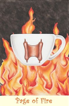 Page of Fire from the Coffee Tarot
