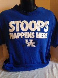 KENTUCKY WILDCAT, MENS, BLUE, XL, TSHIRT, STOOPS HAPPENS HERE #Unbranded #KentuckyWildcats
