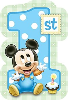Baby Mickey Mouse 1st Birthday Invitations (8) Invites Disney Party Supplies:Amazon:Toys  Games