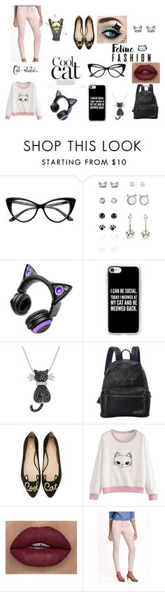 """""""A Claw-some Outfit"""" by thatonefashionista on Polyvore featuring Brookstone, Casetify, Amanda Rose Collection, Loungefly, Kate Spade and Old Navy"""