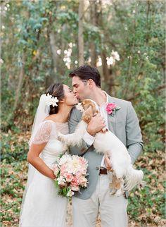 wedding portrait with dog #family #weddingphotography #weddingchicks http://www.weddingchicks.com/2014/02/05/dos-pueblos-ranch-wedding-2/