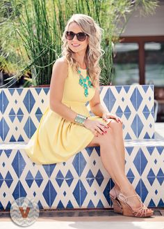 yellow sundress. Perfect for gamedays!