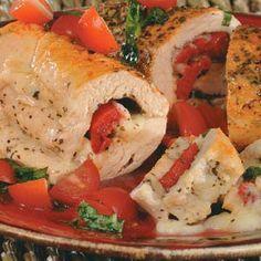 Chicken Mozzarella Roll-Ups Recipe