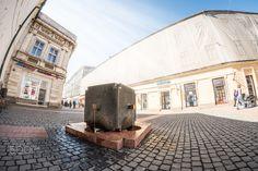Alba Iulia street - Fountain/monument on Alba Iulia street, Timisoara, Romania.