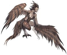 View an image titled 'Harpy Monster Art' in our Guild Wars Nightfall art gallery featuring official character designs, concept art, and promo pictures. Fantasy Races, High Fantasy, Fantasy World, Fantasy Art, Female Monster, Fantasy Monster, Monster Art, Magical Creatures, Fantasy Creatures