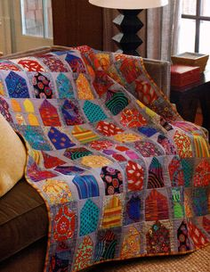 Kaffe Fassett I love house quilts (this pin links only to this image and not to a website)