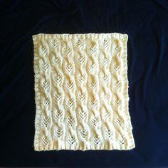 Ravelry: Sweet Cables Baby Blanket pattern by Donna Herron