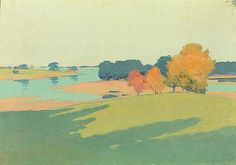 "''Sketch: Autumn,"" Arthur Wesley Dow, oil on canvas, 14 x 20"", private collection."