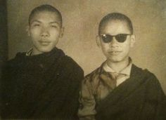 Chögyam Trungpa Rinpoche on the left just as he got to India