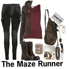 The Maze Runner by abbey-crow99 on Polyvore featuring VILA, Notify, AllSaints, Chan Luu, OFFECCT, Rick Owens and themazerunner