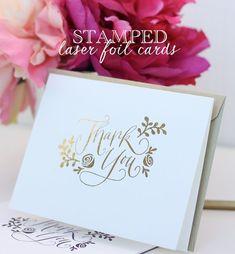 DIY Stamped Laser Foil Cards - detailed tutorial on making foil cards that look storebought! Pop Up Cards, Cool Cards, Diy Cards, Diy Gifts On A Budget, Craft Foil, Free Printable Cards, Card Making Tips, Foil Art, Foil Stamping