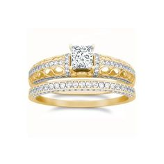 1.42 CaratPrincess Cut DiamondWedding Ring Bridal Set on 18K Yellow - Gold FineTresor. $7113.58. Center Diamond Cut: Princess. Diamond Clarity: I1-I2. Center Dimond Carat Weight: 0.75. Diamond Color: I-J. Metal: 18 K Yellow - Gold