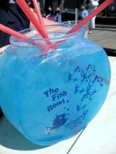 Fishbowls -- 6 oz vodka / 3 oz coconut rum / 3 oz blue curacao / 3 oz sour mix / 6 oz pineapple juice / 9 oz sprite.