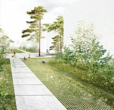 Landscape architecture : photo home landscape architecture perspective, arc Villa Architecture, Architecture Design Concept, Landscape Architecture Drawing, Architecture Visualization, Architecture Graphics, Landscape Drawings, Landscape Plans, Urban Landscape, Landscape Design