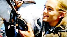 I'm not much into Orli, but him being gentle with that horse earns him extra points