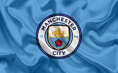 Download wallpapers Manchester City, Football Club, New emblem, Premier League, football, Manchester, United Kingdom, England, flag, emblem, Manchester City logo, English football club