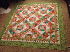 Jacobs ladder quilt top