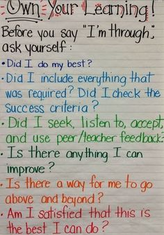 Student Check In Before Turning in Work #EdChat