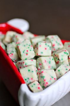 Santa's Shortbread Bites #cookies #recipe