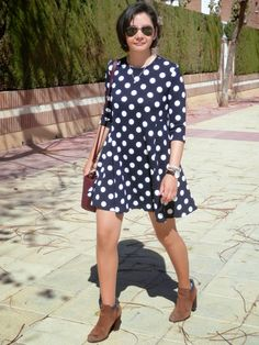 Look What I'm Wearing Today!: Vestido Lunares.