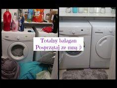 Totalny chaos  Posprzątaj ze mną  Motywacyjne sprzątanie  Pralnia - YouTube Chaos, Washing Machine, Laundry, Home Appliances, Youtube, Laundry Room, House Appliances, Laundry Service, Kitchen Appliances