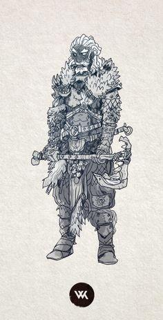 A quick human barbarian.