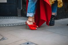Red statement #malonesouliers heels @malonesouliers Malone Souliers, London Fashion, Street Style, Photo And Video, Heels, Red, Photography, Instagram, Heel