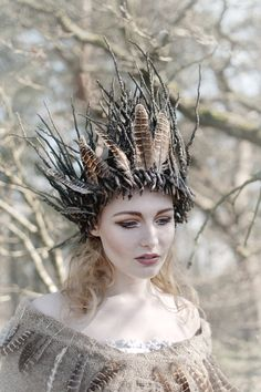 Grimm and fairy fantasy costume crown inspiration and photo art Change of a season by Yvette Leur on