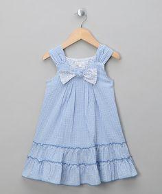 Blue Checks Dress - Toddler & Girls by Patachou on #zulilyUK today!