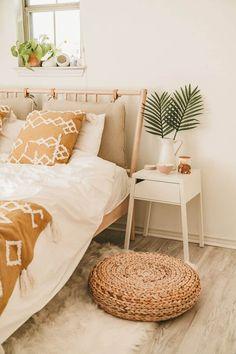 ikea bedroom IKEA Bedroom Makeover For Under - ikea Cozy Bedroom, Bedroom Sets, Modern Bedroom, Ikea Boho Bedroom, Master Bedroom, Ikea Small Bedroom, Ikea Bedroom Furniture, 70s Bedroom, Bedding Sets